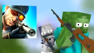 SNIPER 3D GUN SHOOTER CHALLENGE - Minecraft Animation