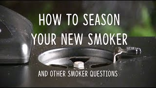 How To Season Your New Electric Smoker