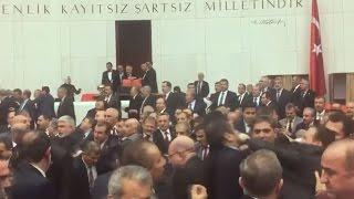 Violent brawl erups in Turkish parliament