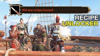 Recipe Unlocker Showcase