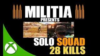 28 KILLS SOLO SQUAD PUBG XBOX ONE | PLAYERUNKNOWN