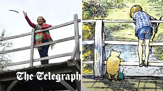 video: Fears that AA Milne's beloved Poohsticks Bridge will cross the pond
