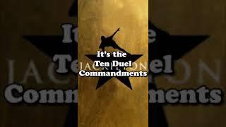 """Rare """"10 Duel Commandments"""" draft from Hamilton #shorts"""