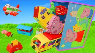 Peppa Pig Toys Box: Camper, Bus, Kitchen & Toy Vehicles Surprise Play for Kids