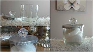 DIY |  PINTEREST INSPIRED PRETTY STORAGE JAR (SAVE YOUR CANDLE JARS)