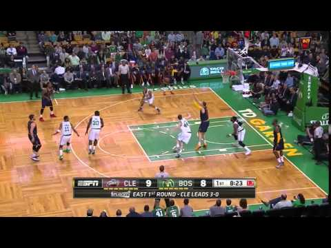 NBA, Playoff 2015, Cavaliers Vs. Celtics, Round 1, Game 4, Move 8, Kevin Love, Assist