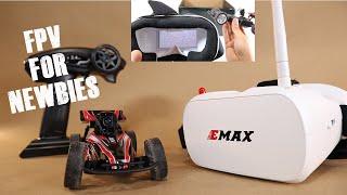 Fun Entry Level FPV RC Car EMAX EAT03 Upgrade w/ EACHINE EV800D FPV Goggles