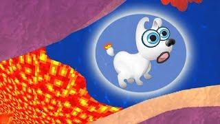 Новые приключения Мимпи. #12. Убегаем от подводной лавы. MIMPI мультик игра для детей