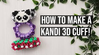 HOW TO MAKE A KANDI/BEADED 3D BRACELET!/Step By Step/How To Tutorial!
