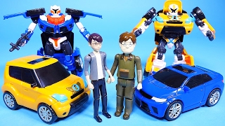 Tobot car toys and transformers CarBot robot cars play