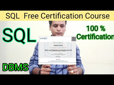 Free Certification Course | SQL Free Course With Certificate ...