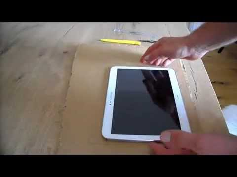 DIY Tablet Halter / Handy Halter ganz einfach selber machen aus Pappe