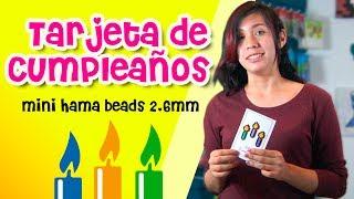 Pixelexip 16 :: Tarjeta de cumpleaños detallada con Beads tamaño MINI (2.6mm)