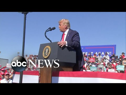 Trump downplays pandemic at campaign rally, goes after Dr. Fauci l GMA