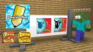 Monster School : Draw N Guess - Minecraft Animation