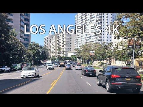 Drive 4K - Los Angeles Westwood  - USA