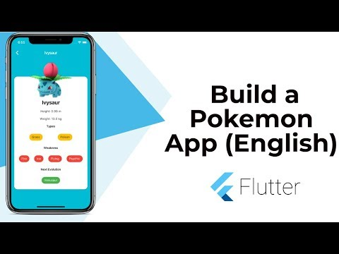 Flutter: Build a Beautiful Pokemon App | Animation | Widgets | JSON