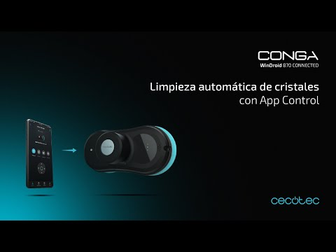 Robot limpiacristales Conga WinDroid 870 Connected Cecotec