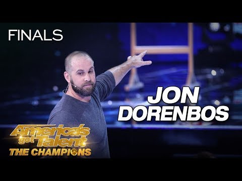 Jon Dorenbos: Magician Delivers Jaw-Dropping Performance - America's Got Talent: The Champions (видео)