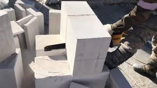 Эффективный способ резки газоблок .Технологие ускоряющие строительства .