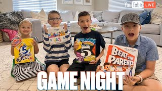 NAME FIVE YOUTUBERS | LET'S PLAY A GAME | BINGHAM FAMILY GAME NIGHT!