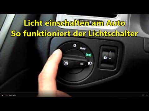 Autofahren lernen - Licht einschalten am Auto so gehts Autolicht schalten Abblendlicht