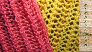 Двусторонний Простой Ажур Спицами. Two-sided knitted openwork