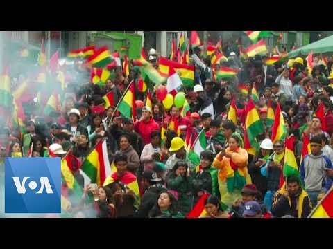 Opposition Protesters Celebrate Morales' Resignation in Bolivia