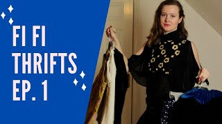 Vintage Charity Shop Haul - Cheap 1920s, 1950s Fashion - Fi FI Thrifts Ep.1