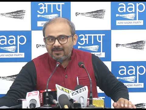 AAP RS Member N D Gupta & National spokesperson Dilip Pandey briefs media on PNB Scam