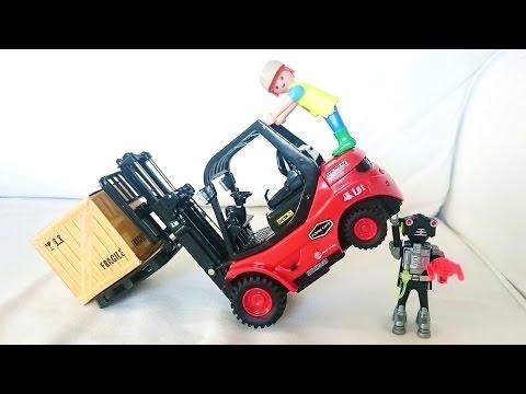 Vídeo niños. FENWICK CARRETILLA ELEVADORA TORO Diésel y juguete RC radio control machines for kids