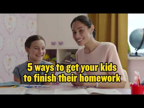 5 ways to get your kids to finish homework