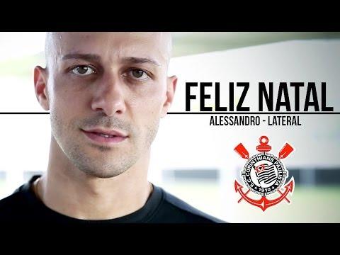 Alessandro manda mensagem de feliz Natal a torcida do Corinthians