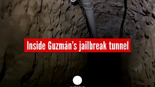 Insider footage: Mexican drug barron's mile-long tunnel used for jailbreak