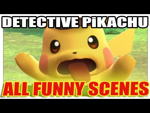 Detective Pikachu // ALL FUNNY Awesome Pikachu Scenes!!!!