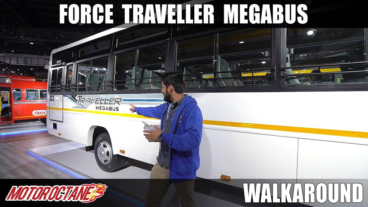 Motoroctane Youtube Video - Force Traveller Mega Bus | Auto Expo 2020 | Hind | Motoroctane