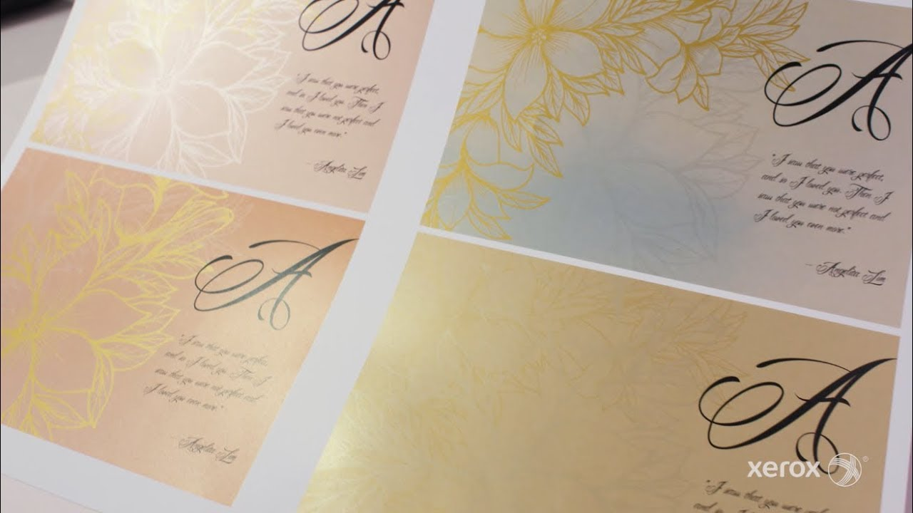 A designer's perspective on metallic effects with Xerox Iridesse Production Press YouTube Video