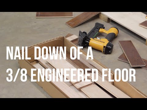 How To Glue Down Install A Three Eighths Cabin Grade Engineered Wood