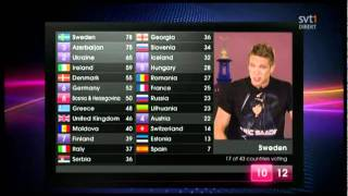 Danny Saucedo, Danny Saucedo reading the Swedish votes (ESC 2011)