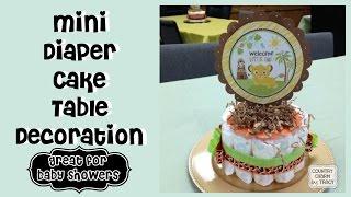 Mini Diaper Cake Table Decoration