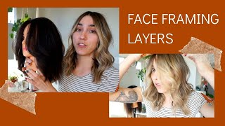 Simple face framing layers