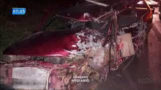 Motorista morre ao bater de frente com carreta