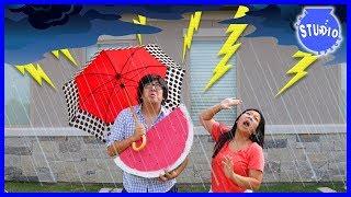 Lightning Thunderstorm made our power go out + Funny Cartoon Animated EK DOODLES!!!