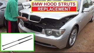 How To Install Replace Hood Lift Support Struts Shocks BMW E65 E66 E46 E83 E39