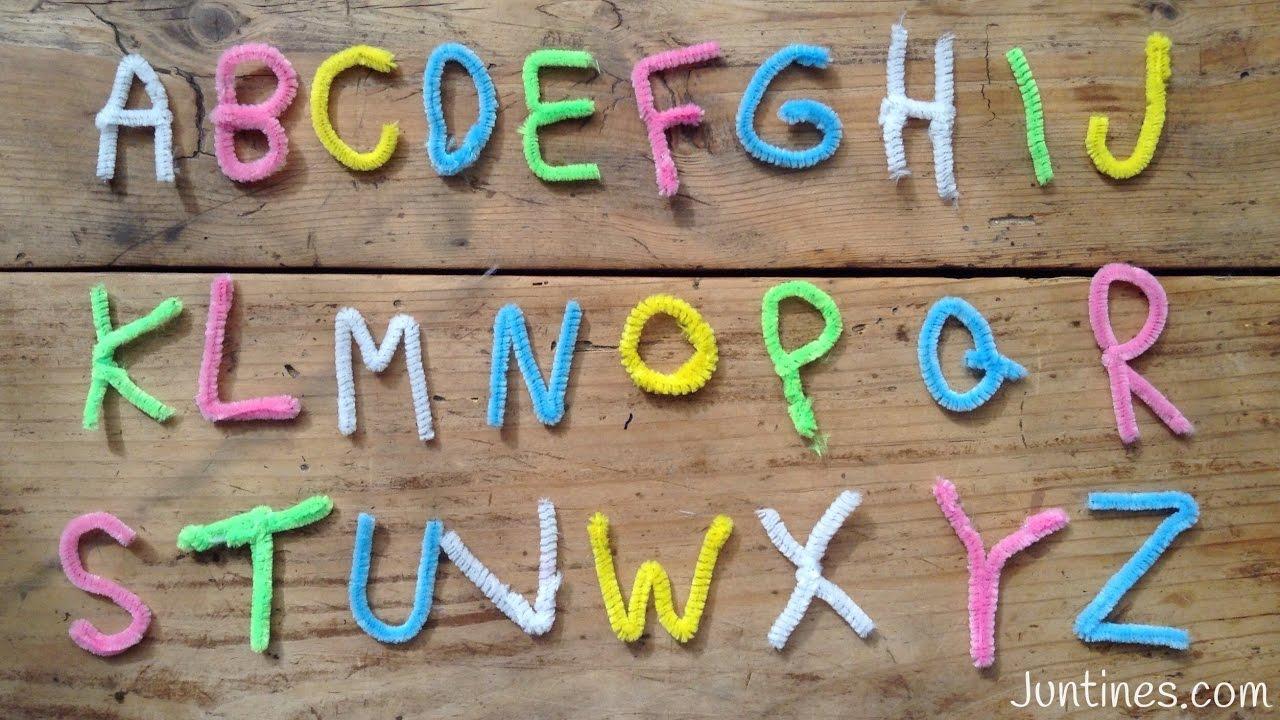 Aprende el abecedario JUEGO EDUCATIVO | Manualidades con LIMPIAPIPAS
