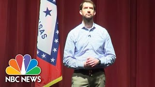 COTTON - GOP Senator Tom Cotton Confronted At Town Hall About President Trump's Election | NBC News
