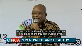 He's commented for the first time in public about his health, following hospitalisation in Cuba.   Courtesy #DStv403