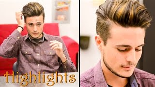Mens Hair Highlights - Natural Streaks: Mariano Di Vaio Inspired