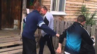 Деревенские ДРАКИ, Битва Нищебродов)))