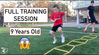 FULL TRAINING SESSION WITH INCREDIBLE 9 YEAR OLD TALENT SANTI   Joner 1on1